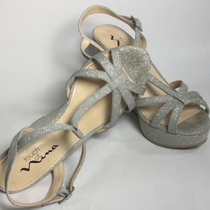 Touch of Nina - Silver (glittery) Dress Shoes